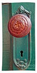 Copper Door Knob Beach Towel