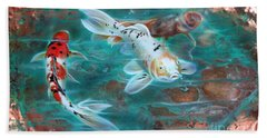Copper Koi Beach Towel