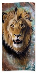 Copper Majesty - Lion Beach Towel