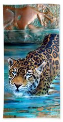 Copper - Temple Of The Jaguar Beach Towel