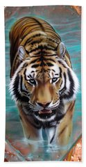 Copper Tiger 3 Beach Towel