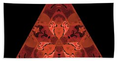 Copper Triangle Abstract Beach Towel