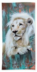 Copper White Lion Beach Towel