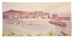 Cornish Harbour Beach Towel