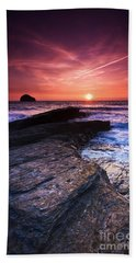 Cornish Sunset Beach Towel