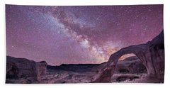 Corona Arch Milky Way Beach Towel