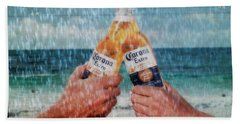 Coronas In The Rain Beach Sheet