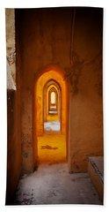 Corridor In The Real Alcazar Of Seville Beach Towel