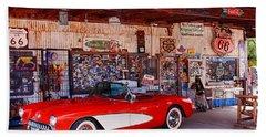 Corvette Drive Rt 66 Beach Towel