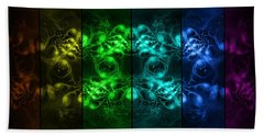 Cosmic Alien Eyes Pride Beach Towel
