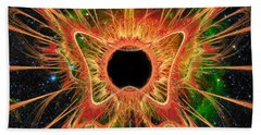 Cosmic Butterfly Phoenix Beach Towel