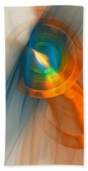 Beach Sheet featuring the digital art Cosmic Candle by Victoria Harrington