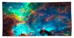 Cosmic Cradle 2 Star Cluster Ngc 2074 Beach Towel