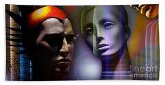 Cosmic Mannequins Triad Beach Sheet