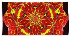 Cosmic Masculine Firestar Beach Sheet