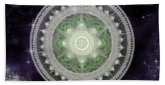 Cosmic Medallions Earth Beach Towel
