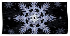 Beach Towel featuring the digital art Cosmic Snowflakes by Shawn Dall