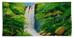 Costa Rica Waterfall Beach Towel