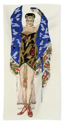 Costume Design For A Dancing Girl Beach Towel