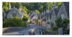 Beach Towel featuring the photograph Cotswold Village by Brian Jannsen