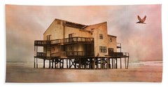 Cottage Of The Past Beach Towel