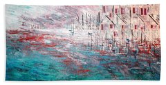 Cottages On The Bay  Beach Towel by George Riney