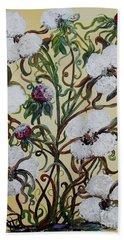 Cotton #1 - King Cotton Beach Sheet by Eloise Schneider