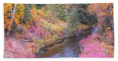 Cotton Candy Creek Beach Towel