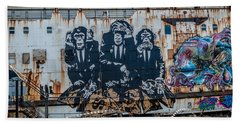 Council Of Monkeys 2 Beach Towel