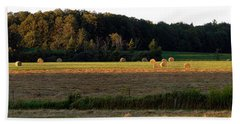 Country Bales  Beach Towel