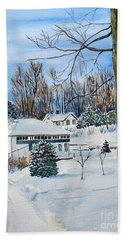 Country Club In Winter Beach Towel
