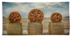 Country Halloween Beach Towel by Patti Deters