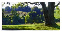 Country Landscape Beach Towel