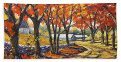 Country Lane Sentinels  Created By Prankearts Beach Towel