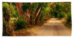 Country Road Beach Sheet by Fred Larson