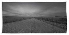 A Country Road Of South Dakota Beach Sheet