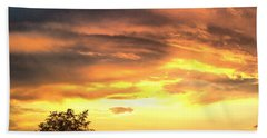 Country Scene From Hilltop To Hilltop Beach Towel