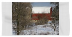 Beach Towel featuring the photograph Country Winter by Ann Horn