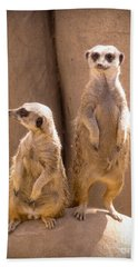 Couple Of Meerkats Beach Towel