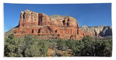 Courthouse Butte Beach Towel by Penny Meyers