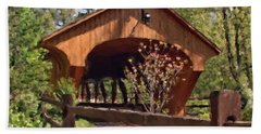 Covered Bridge At Olmsted Falls-spring Beach Towel