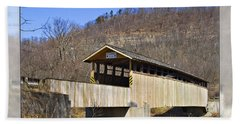 Covered Bridge In Pa. Beach Towel
