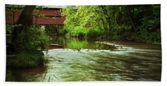 Covered Bridge Over French Creek Beach Sheet by Michael Porchik