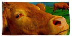 Cow Cameo Beach Towel