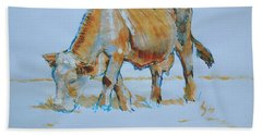 Cow Painting Beach Sheet