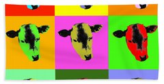 Cow Pop Art Beach Sheet