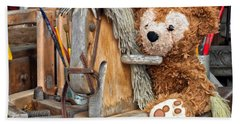 Beach Towel featuring the photograph Cowboy Bear by Thomas Woolworth