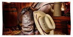 Beach Towel featuring the photograph Cowboy Gear by Olivier Le Queinec