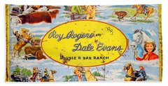 Cowboy Lunchbox Beach Towel by Ed Weidman