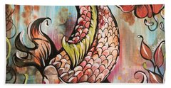 Coy Koi Beach Towel by Shadia Derbyshire